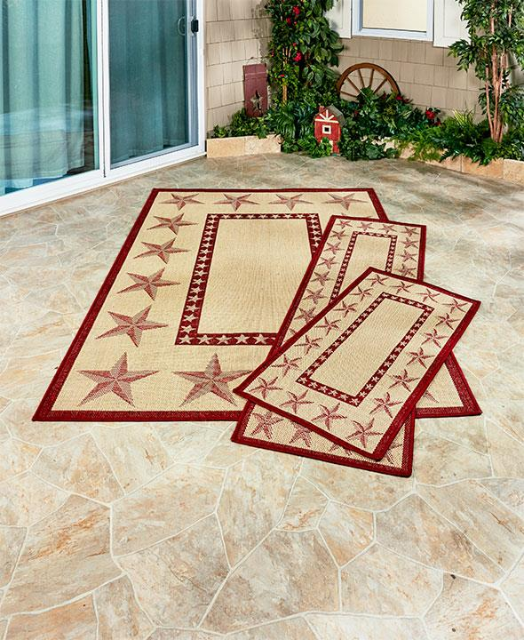 NEW In Or Outdoor Pool Patio Rugs Country
