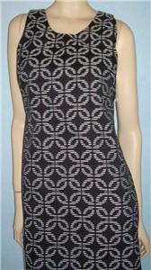 NWT EVAN PICONE Black and White Print Dress Sz 6 S Small NEW