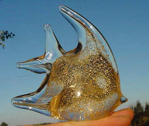 Blown glass angel fish - photo#3