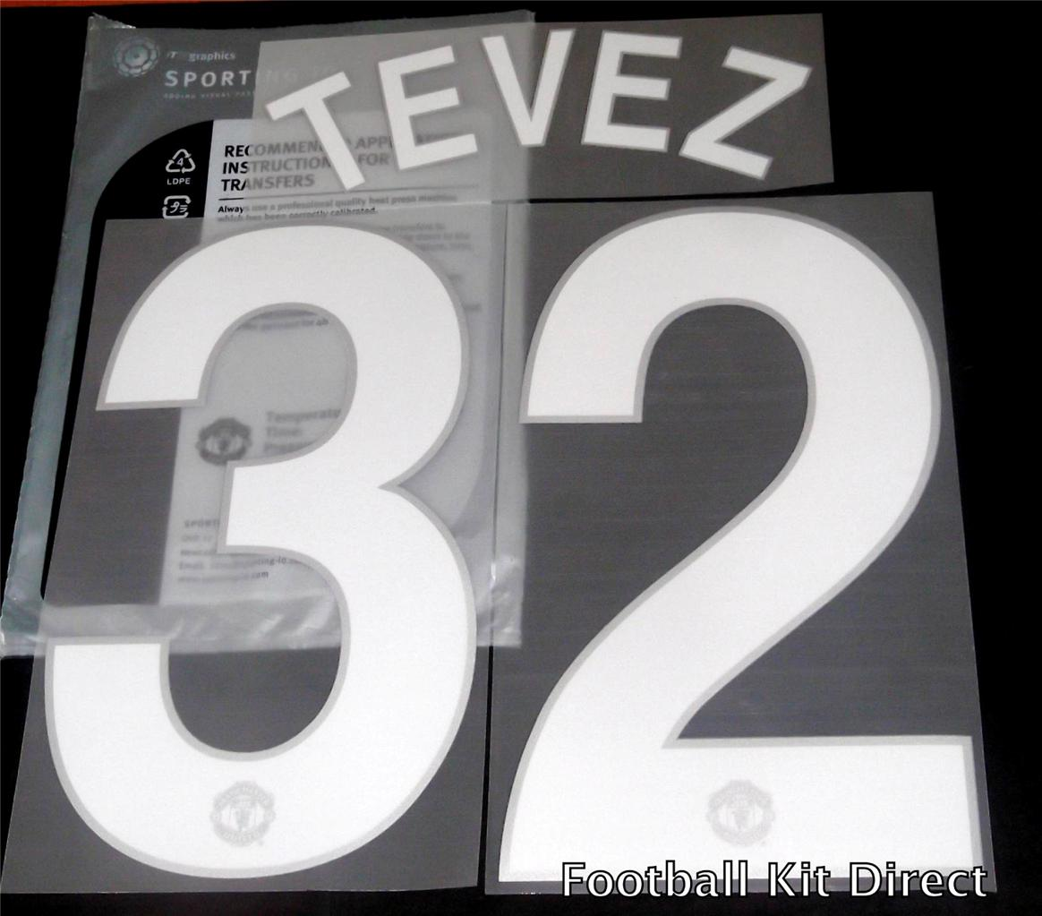 Manchester-United-Uefa-Champions-League-Tevez-32-08-11-Football-Shirt-Name-Set