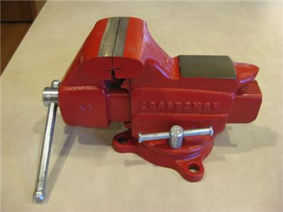 Craftsman Bench Vise Vintage U S A Made 506 51801 Red Very Nice Ebay