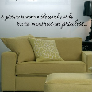 Picture Memories Quotes on Picture Memories Sayings Decal Wall Lettering Art Vinyl   Ebay
