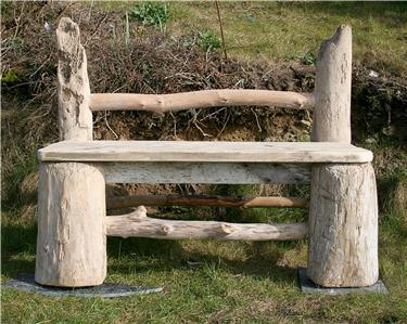 Seat drift wood garden bench driftwood garden furniture uk ebay