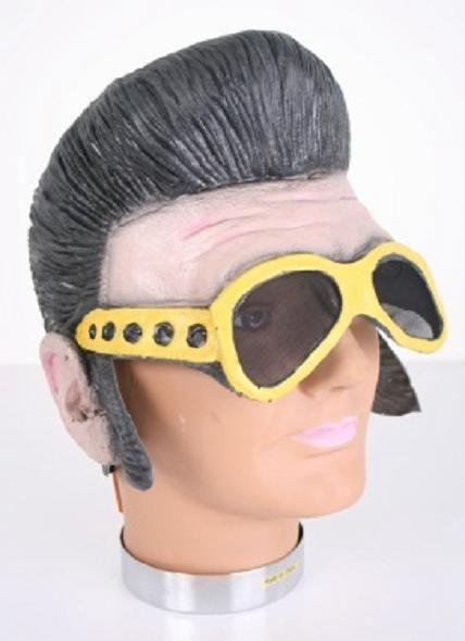 BLACK-LATEX-ELVIS-WIG-WITH-SIDEBURNS-AND-GLASSES-COSTUME-ACCESSORY-ROCK-STAR-NEW