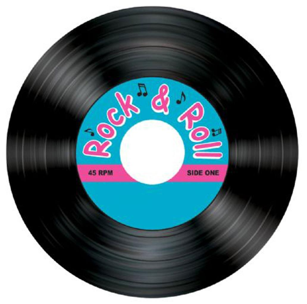 Coasters50sRockandRollRecordTableDecorationPartySupplies
