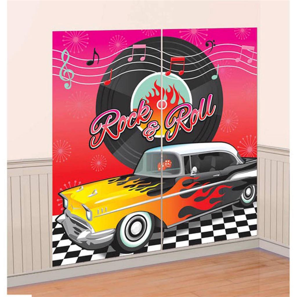 1950s rock and roll classic diner car scene setter party for 1950 s decoration