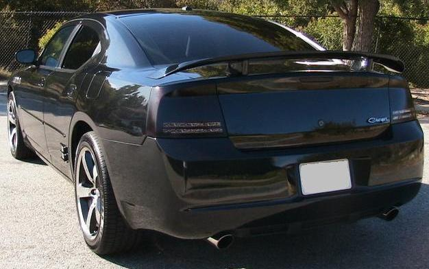dodge charger tail light smoked overlays 06 07 08 ebay. Black Bedroom Furniture Sets. Home Design Ideas