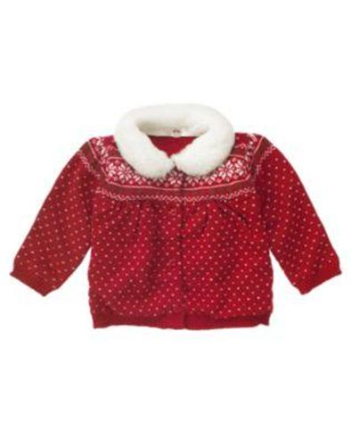 Details about nwt gymboree snow cute fair isle snowflake sweater 3 6
