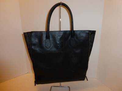 new givenchy parfums gusset tote bag black faux leather