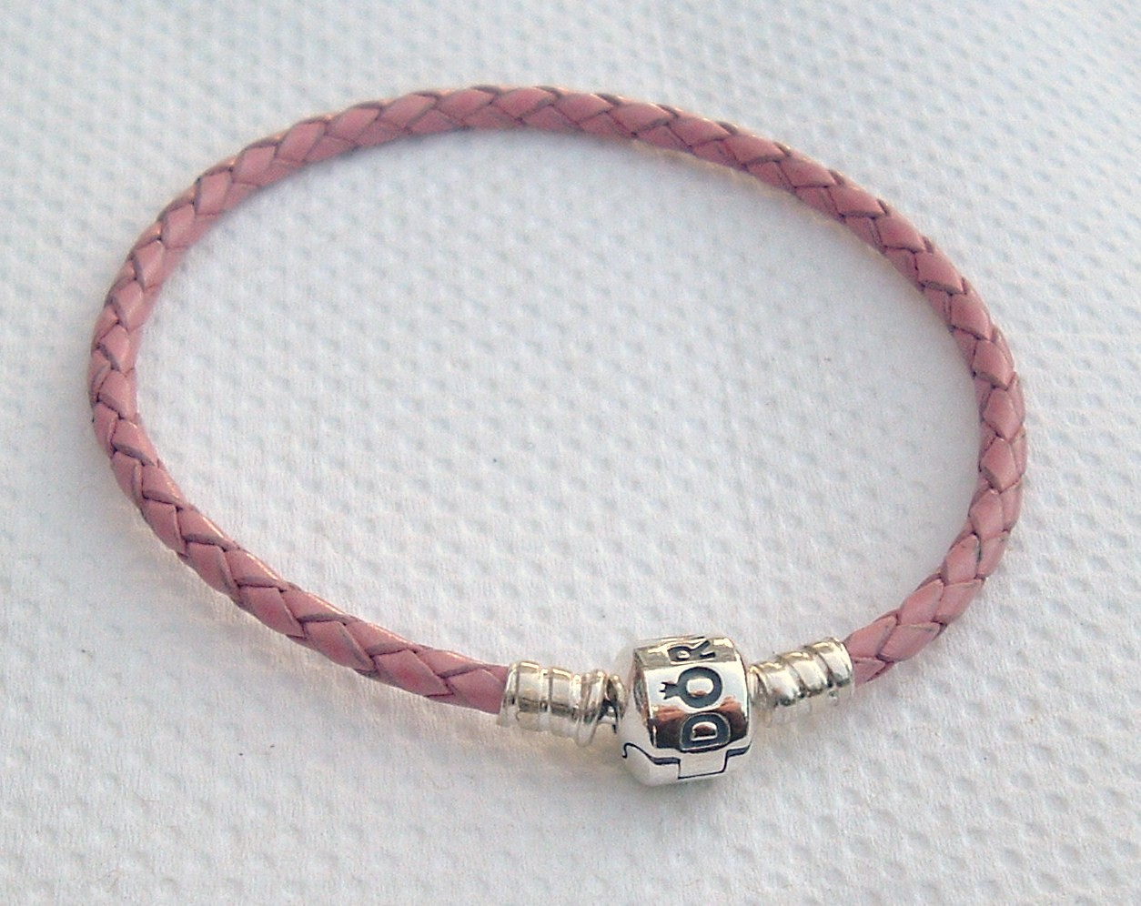 genuine pandora pink leather bracelet 590705cpk s ebay. Black Bedroom Furniture Sets. Home Design Ideas