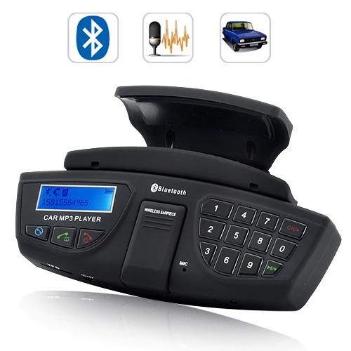 Bluetooth-Car-Kit-FM-Transmitter-MP3-Player-Speaker-Mic-w-Steering-Wheel-Remote