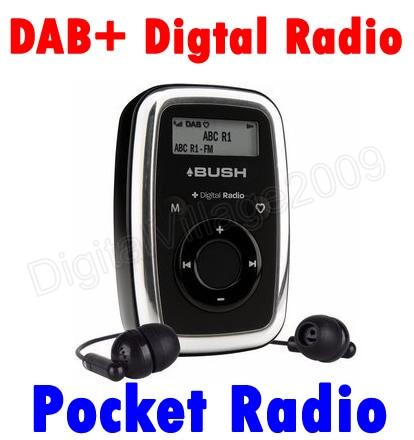 pocket radio dab digital fm tuner receiver ebay. Black Bedroom Furniture Sets. Home Design Ideas