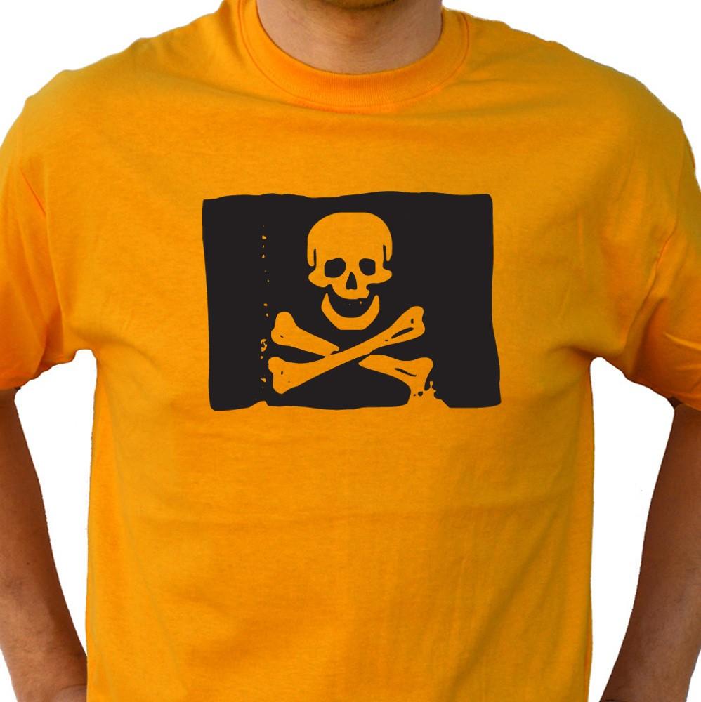 Shirt Orange Skull Flag Tee Gothic Funny Tshirt Boyfriend Gift