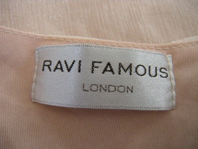 Famous Furniture Stores on Ravi Famous London Rosey Cream Rosette Dress Sz S M   Ebay