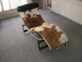 Vintage retro le corbusier reproduction chaise lounge ebay for Antique reproduction chaise lounge