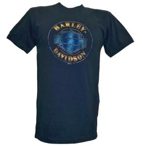 Harley Davidson Las Vegas Dealer Tee T Shirt BLUE MD