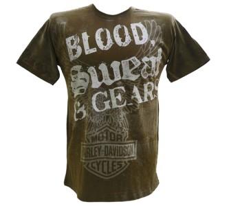 Harley Davidson Las Vegas Dealer Tee T Shirt BROWN MEDIUM #BRAVA1