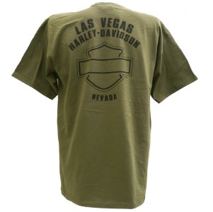 Harley Davidson Las Vegas Dealer Tee T Shirt GREEN XL #BRAVA1