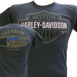 Davidson Las Vegas Dealer Tee T Shirt Bar & Shield GRAY XL #RKS