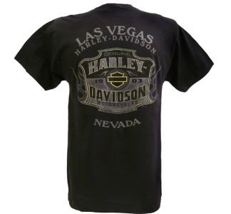 Harley Davidson Las Vegas Dealer Tee T Shirt BLACK MEDIUM #RKS