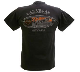 Harley Davidson Las Vegas Dealer Tee T Shirt Pinup Girl BLACK MEDIUM