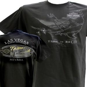 Harley Davidson Las Vegas Dealer Tee T Shirt BLACK LARGE #RKS