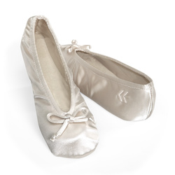 Ivory pink black silk satin Wedding flat ballet fine lace bride shoes size