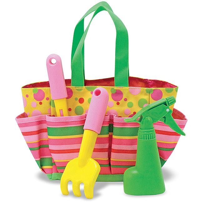 melissa doug kids gardening tote set blossom bright pink or tootle turtle ebay ForMelissa And Doug Gardening Set