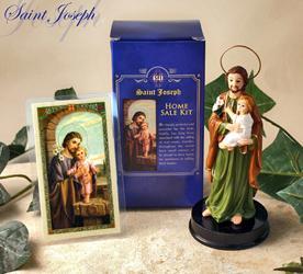 saint joseph home seller kit legend 5 resin statue prayer card instructions ebay. Black Bedroom Furniture Sets. Home Design Ideas
