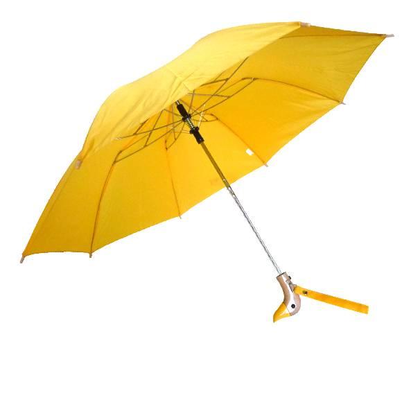 Auto-Open-Wooden-DUCK-Handle-18-034-Folding-Umbrella-44-034-Arc-10-Colors-Available