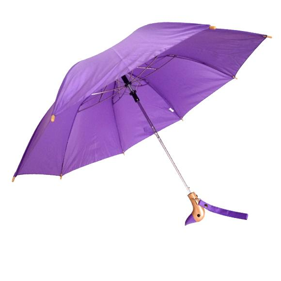 Auto-Open-Wooden-DUCK-Handle-18-Folding-Umbrella-44-Arc-10-Colors-Available