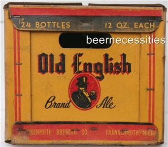 Frankenmuth Old English Brand Ale 1950 Beer Case Michigan Mich MI