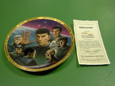 Star Trek Next Generation Lot of 4 Collector Plates