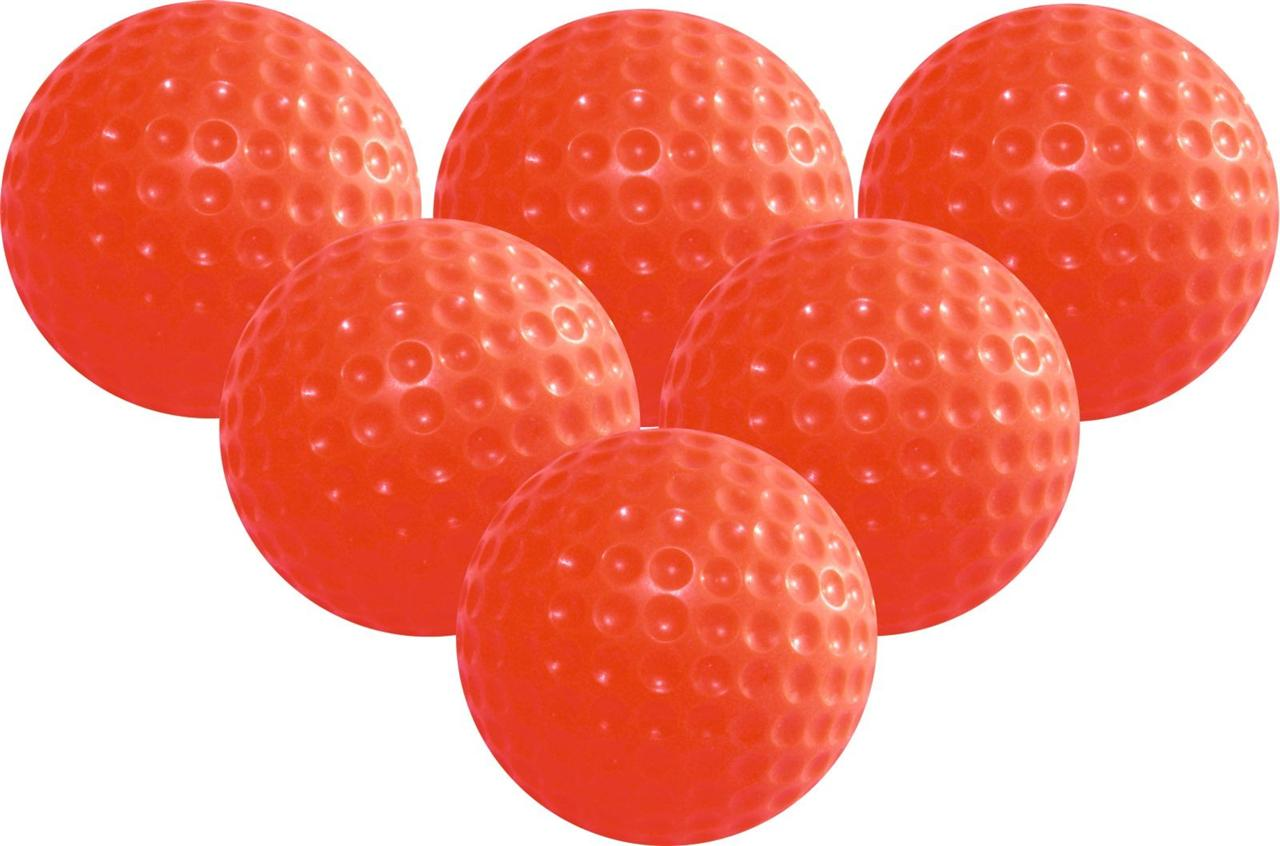Longridge-Orange-Jelly-Training-Practice-Soft-Golf-Balls-6-Pack-Safe-Indoors