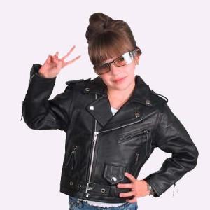 Gute Fragen An Madchen >> Motorrad Lederjacke Mädchen Kinder 1.3mm Dickes Leder Brando Jacke Gr.XXL | eBay