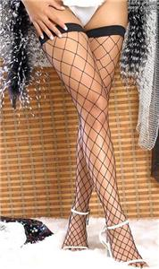 Womens-Lingerie-Black-Fishnet-Whale-stockings-Tights