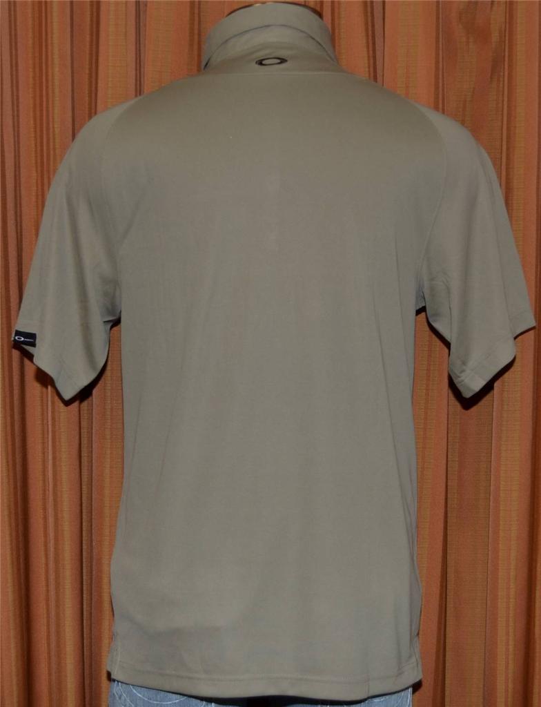 Oakley cancun palace short sleeve light brown polo shirt for Light brown polo shirt