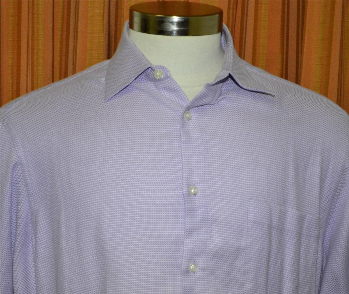 Hugo Boss Long Sleeve Light Purple Lavender 100 Cotton