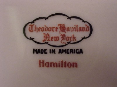 Theodore Haviland HAMILTON   Dinner Plate   8 Available