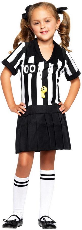 Little Girlu0026#39;s Sports Referee Game Official Kids Childrens Halloween Costume NEW | eBay