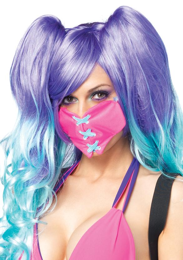 Details about Sweetheart Stitched X Heart Face Mask Clothes Girls