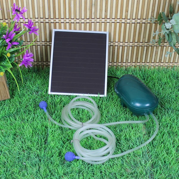 day night solar powered oxygenator oxygen air fish pond pool pump 2 air stone ebay