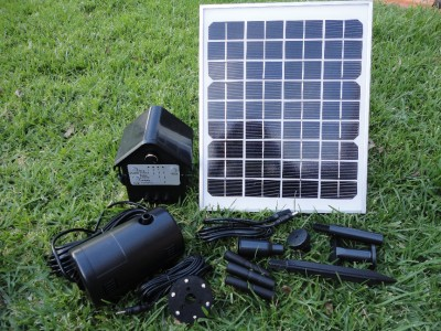 Large 10w solar panel pond water fountain solar pump w for Large pond water pump