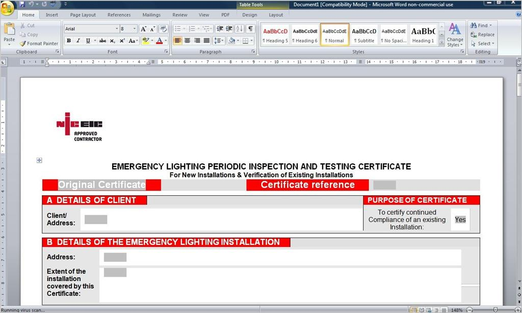 Fire industry forms u2014 eformdesign warranty for Fire alarm log book template