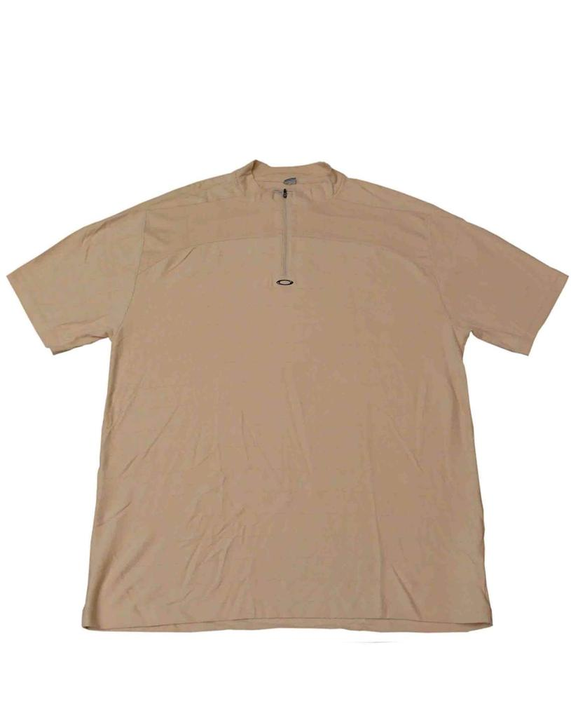 Oakley tempo mens colarless golf polo shirt size xxl pale for Xxl mens polo shirts