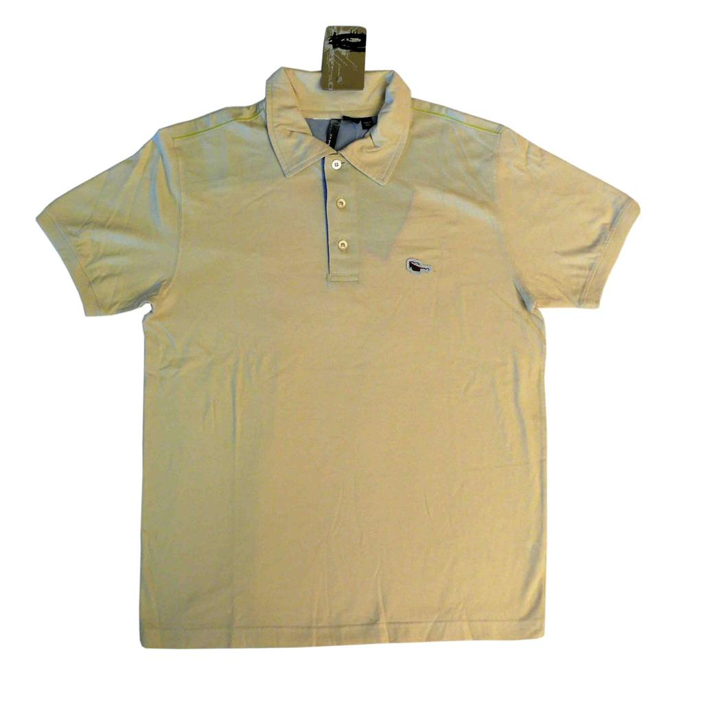 Oakley mens blade golf polo shirt size l bleached yellow for Yellow golf polo shirts
