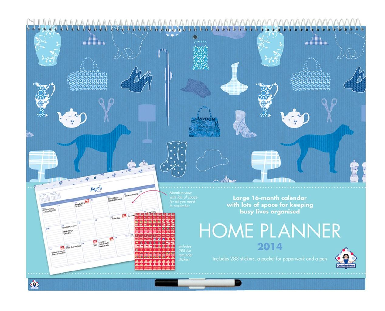 Calendar Home Planner : Organised mum home planner calendar useful gift for