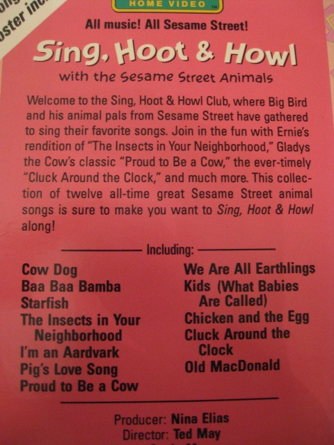 Sesame Street Sing Hoot And Howl Vhs Sesame Street Sing Hoo...