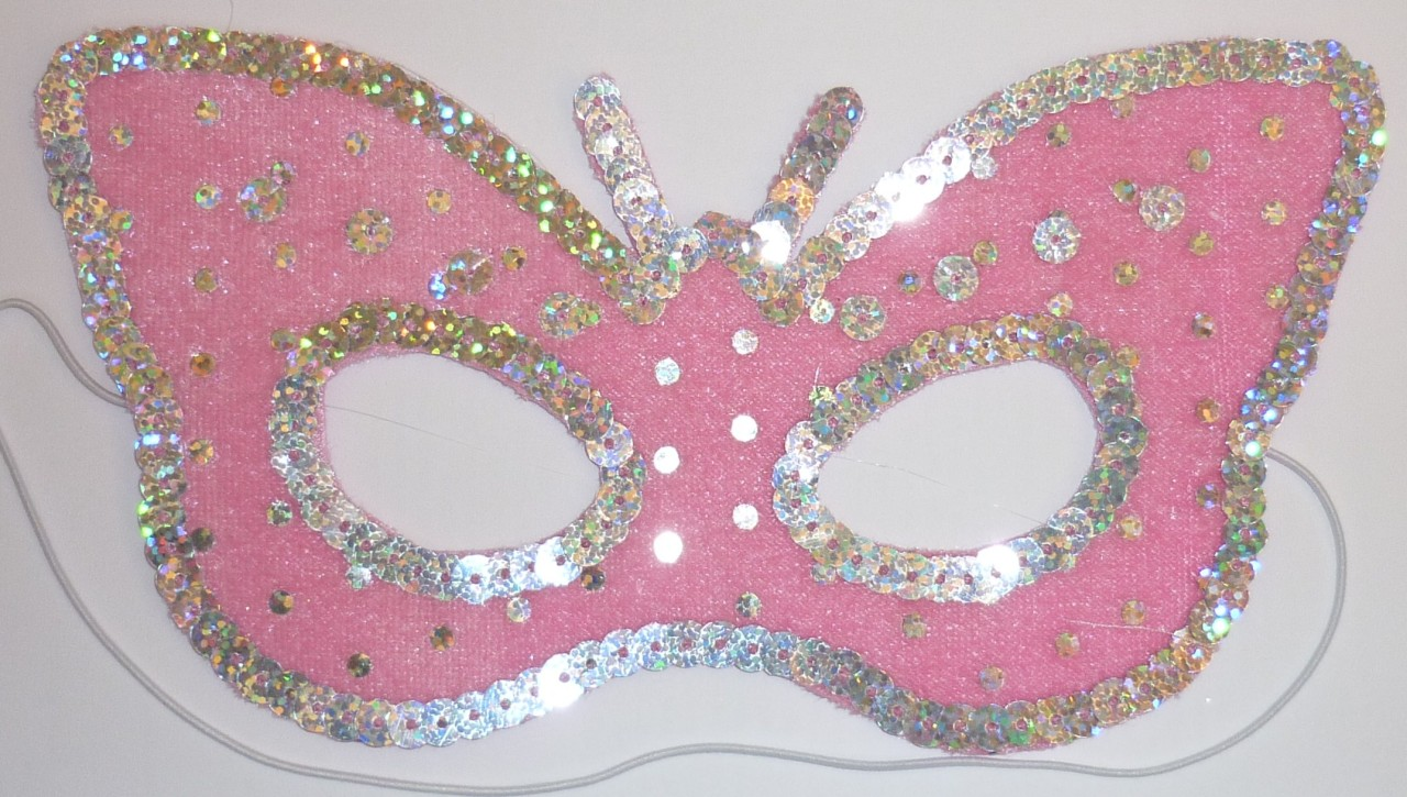 GORGEOUS-PINK-BUTTERFLY-FAIRY-PRINCESS-MASK-COSTUME-NEW