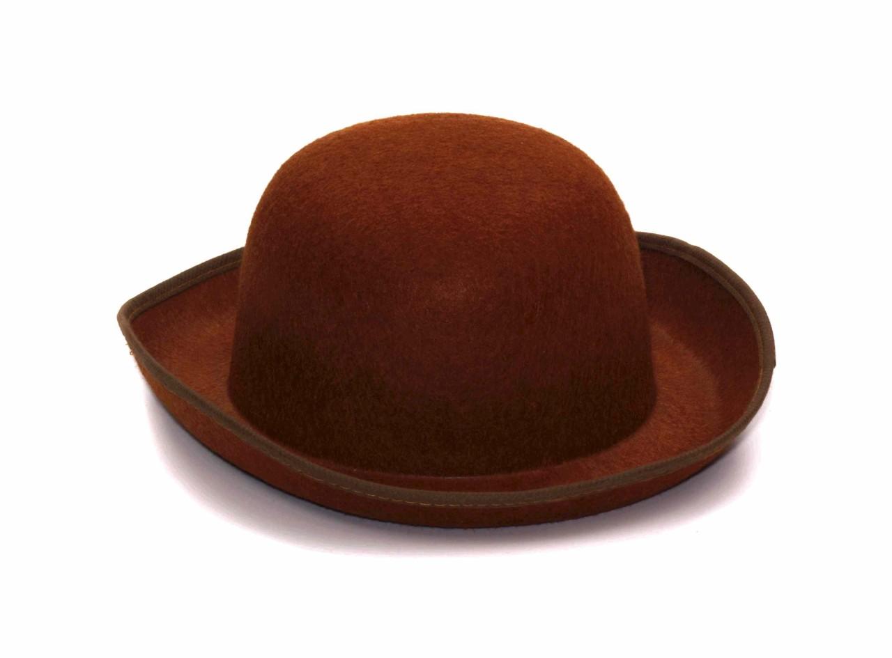 BROWN-STEAM-PUNK-DERBY-VICTORIAN-FELTEX-HAT-COSTUME-NEW